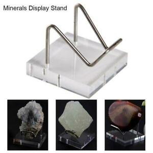 Crystal Mineral Display Stand Clear Acrylic Triangle Display Holder Easel Stands