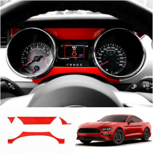 Red Dashboard Panel Trim Strip Decor Cover For Ford Mustang 15 2021 Accessories