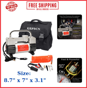 Air Compressor Kit Portable Rv Suv Truck High Volume Off Road Inflate Tires New