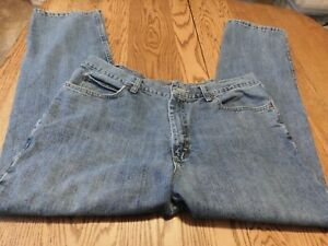 MENS LEE RELAXED FIT DENIM BLUE JEANS 40 32 DESTRESSED CLEAN $5.00