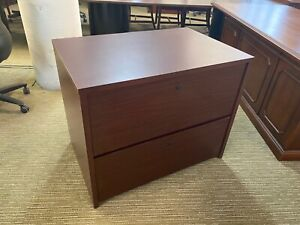 2dr 36 w Lateral File Cabinet By National Office Furniture In Mahogany Laminate