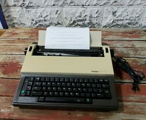 Vintage Brother Ax 10 Portable Electric Electronic Daisy Wheel Typewriter Works