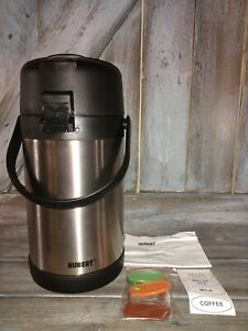 Hubert Airpot Thermal Coffee Dispenser With Pump Lid 84 Oz Stainless Steel