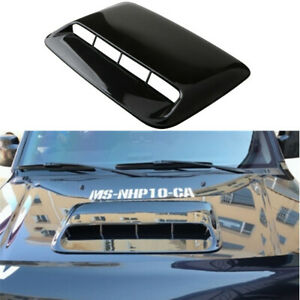 Abs Plastic Air Flow Intake Hood Scoop Vent Bonnet Cover Glossy Black For Car