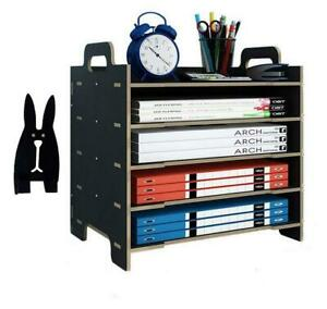 5 trays Paper Tray Organizer Document Storage Shelf For Office Home Supplies
