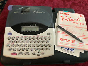 Brother P touch Label Maker Model Pt 1800 1810 W case Tape Works