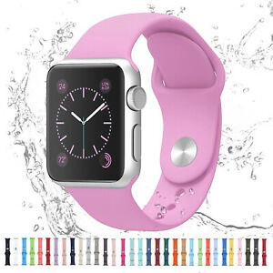 For Apple Watch iWatch Series 6 SE 5 4 3 38 40 42 44mm Silicone Sport Strap Band $6.45