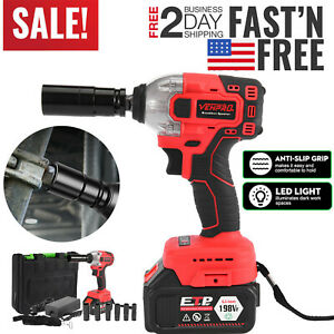 1 2 330 Nm Electric Brushless Cordless Impact Wrench Drill High Torque Tool