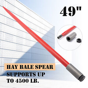 49 Hay Bale Spike 4500lb Cap Quick Attach Tool For Truck Tractor Loader More