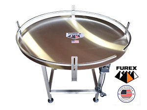 Furex 48 Dia Stainless Steel Accumulating Rotary Table