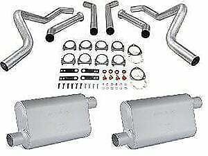 Jegs 30543k Dual Exhaust With Chambered Mufflers