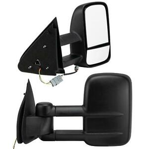 Left Right For 1997 2003 Ford F150 Extend Telescoping Power Side Tow Mirrors