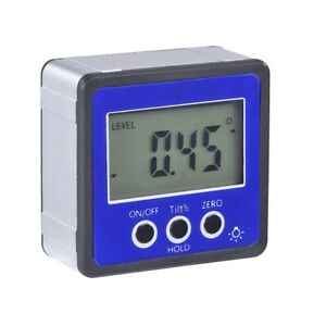 Digital Lcd Level Box Protractor Angle Meter Inclinometer Magnetic Clinometer