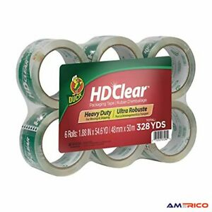 6 Rolls Hd Clear Heavy Duty Packing Tape Refill Moving Shipping Storage Usa