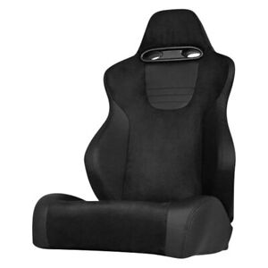 Xtune Srt Series Passenger Side Racing Seat Black Suede W Leatherette