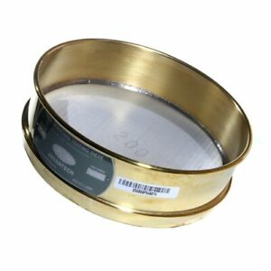Advantech Brass Test Sieves With Stainless Steel Wire Cloth Mesh 12 Diameter