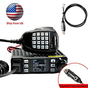 Anytone At 779uv 20 W Gmrs Mobile Two Way Radio With Vhf Uhf Scanning Receiver