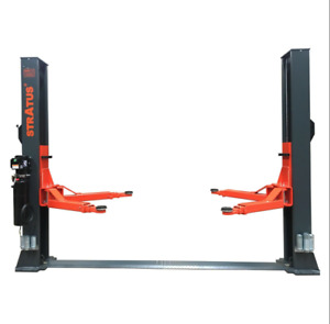 Stratus 2 Post Extra Wide Floor Plate 14000 Lbs Single Manual Release Car Lift