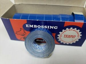Rotex Texmo Embossing Tape Blue Glossy 1 2 X 12 Foot Pack Of 10 Rolls