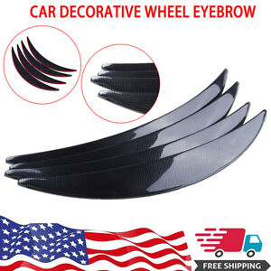 4x Jdm Universal Fender Flares 54mm Wide Body Kit Wheel Arches Durable Carbon