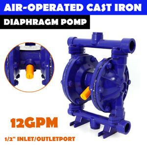 Air operated Double Diaphragm Pump Double Diaphragm 12 Gpm 1 2inch Pump 120 Psi