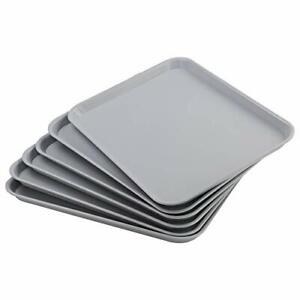 Large Plastic Fast Food Restaurant Serving Trays Light Grey Dishes Platters