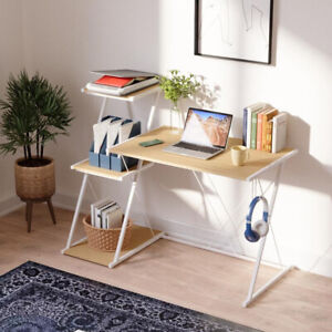 53 Computer Desk Pc Gaming Laptop Writing Table Workstation Home Office Shelves