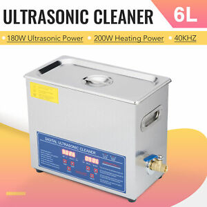 6l Ultrasonic Cleaner Stainless Steel Industry Heated Heater W timer