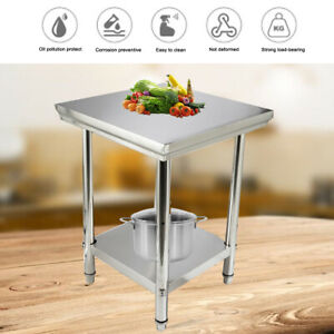 Stainless Steel Work Prep Table 24 X 24 Commercial Kitchen Food Prep Table