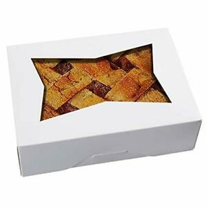 25pcs8inch Cookie Boxes With Window Lidwhite Cardboard Pops Treat Gift Bakery