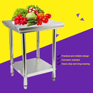 24 x24 x32 Table Work Prep Restaurant Stainless Steel Kitchen Food Prep Table