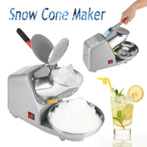 Snow Cone Maker Shaved Ice 187lbs Commercial Electric Ice Crusher Shaver Machine
