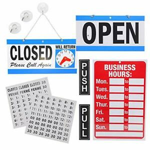 Business Hour Open Closed Sign Push Pull Door Signs Bundle Of Office