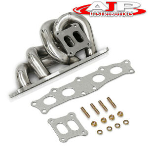 Performance Steel Exhaust Header Turbo Manifold For 1991 1995 Toyota Mr2 Sw20