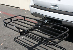 Hitch Mount Compact Cargo Carrier 52 X 18 350 Lb Luggage Hitch Carrier