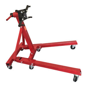 2000 Lbs Engine Stand Folding Motor Hoist Dolly Mover Auto Repair Jack Rotating