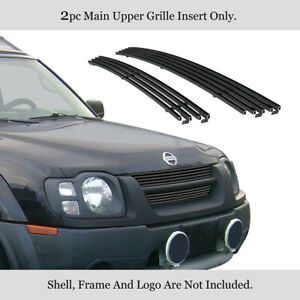 Fits 2002 2004 Nissan Xterra Stainless Black Grille Insert