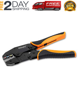 Crimping Tool For Insulated Electrical Connectors Ratchet Terminal Crimper New