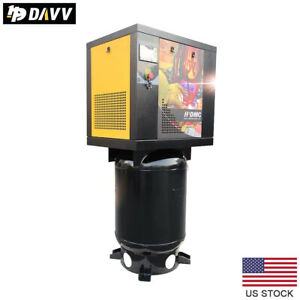 5 5hp 1 Phase Rotary Screw Air Compressor 16cfm 175psi With 60 Gallon Asme Tank