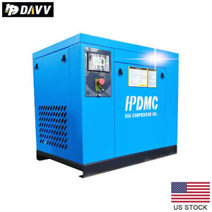 7 5 Hp 3 Phase Rotary Screw Air Compressor 230v 125 150psi 29 25cfm Industrial