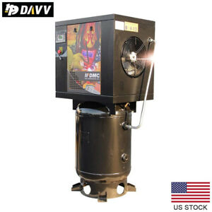 7 5 Hp 5 5kw Rotary Screw Air Compressor 18cfm 175psi 60 Gallon For Industrial