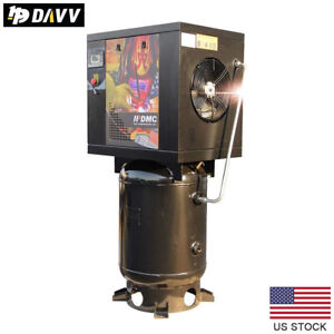 7 5 Hp 5 5kw Rotary Screw Air Compressor 29cfm 125psi 60 Gallon For Industrial