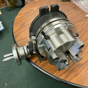 8 Horizontal Vertical Rotary Table W Adapter 6 4 jaw Chuck in tsl8 c6