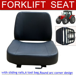 Universal Forklift Seat Replacments W slide Track Fits Lawn Mower Garden Tractor
