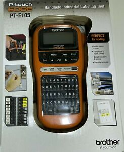 Brother P touch Edge Pt e105 Portable Handheld Industrial Label Maker W Labels