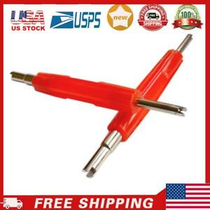 Stainless Steel Dual Head Car Tire A C Valve Stem Core Remover Repair Tool