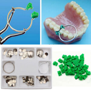 100pcs Dental Sectional Contoured Matrices Matrix Ring Delta 40 Add on Wedges
