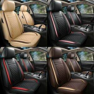 Luxury Leather 5 Seat Car Cover Universal Front Rear Full Set Cushion Protector