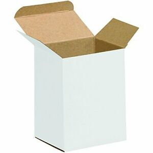 Aviditi White Folding Gift Boxes 4 X 3 X 5 Pack Of 250 Easy To Assemble Re