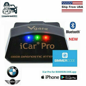 Vgate Icar Pro Bluetooth 40 Adapter Obd2 Bimmercode Bmw Coding For Ios Android